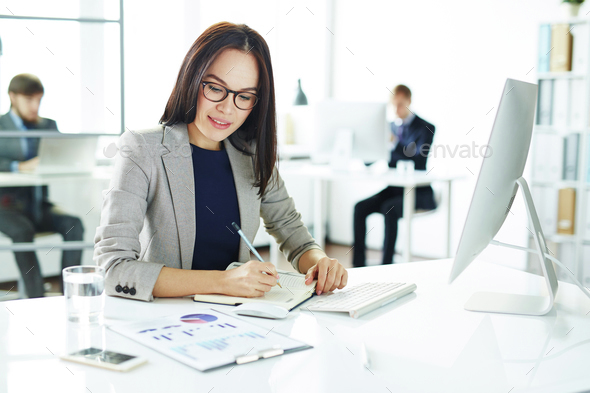 Businesswoman at work - Stock Photo - Images