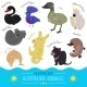 Set of Cartoon Australian Animal Icons - GraphicRiver Item for Sale