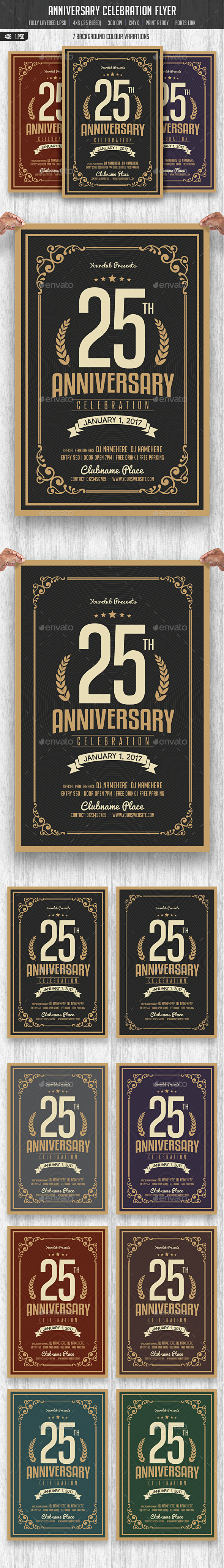 Anniversary Celebration Flyer - Events Flyers
