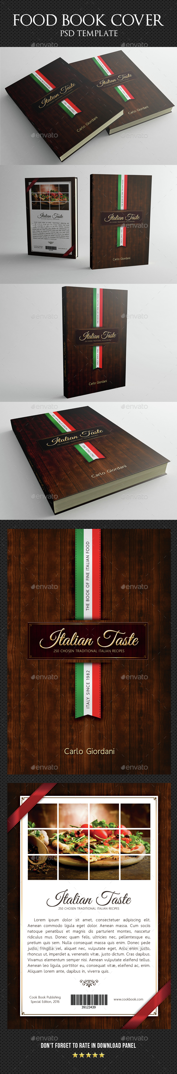 Italian Taste Book Cover Template - Miscellaneous Print Templates