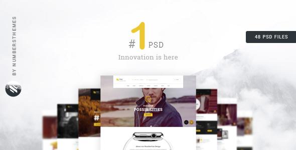 NumberOne - Creative Multi-purpose PSD Template