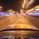Night Driving At a Modern Highway Passing a Series Of Tunnels. - VideoHive Item for Sale