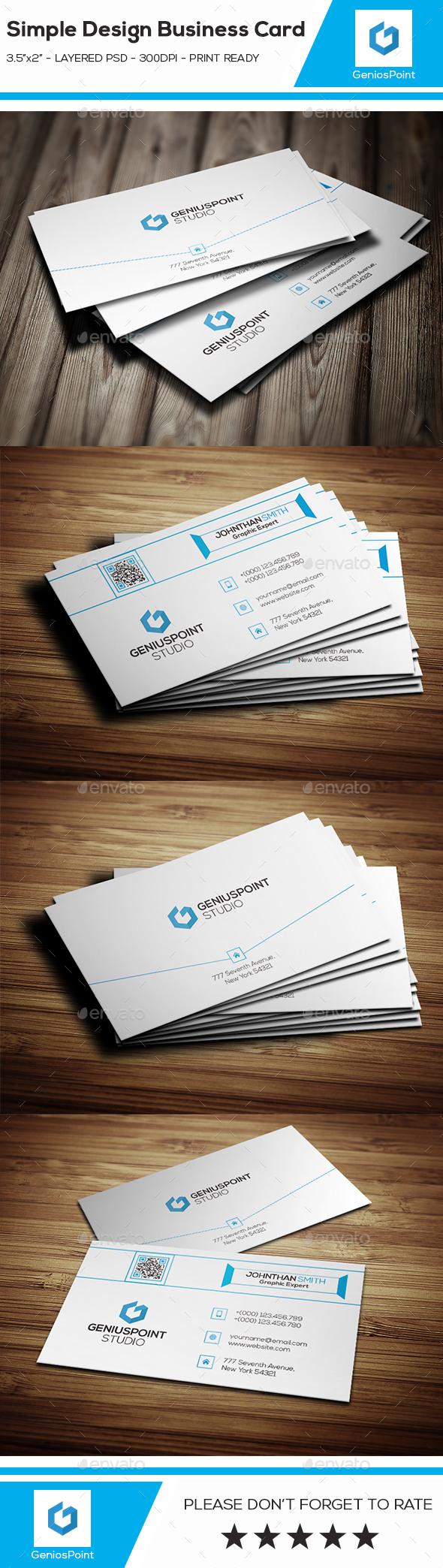Simple Design Business Card. - Business Cards Print Templates