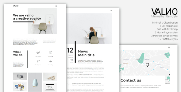 Valno – Minimal Creative Multi page Portfolio Template
