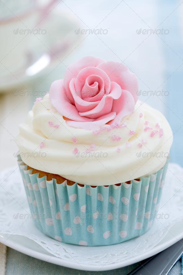 Rose cupcake - Stock Photo - Images