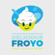 Delicious Healthy Yogurt Ice Cream Food Logo - GraphicRiver Item for Sale