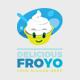 Delicious Healthy Yogurt Ice Cream Food Logo - GraphicRiver Item for Sale