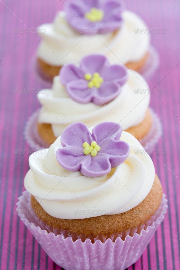 Purple cupcakes - Stock Photo - Images