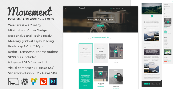Movement – Personal Blog WordPress Theme