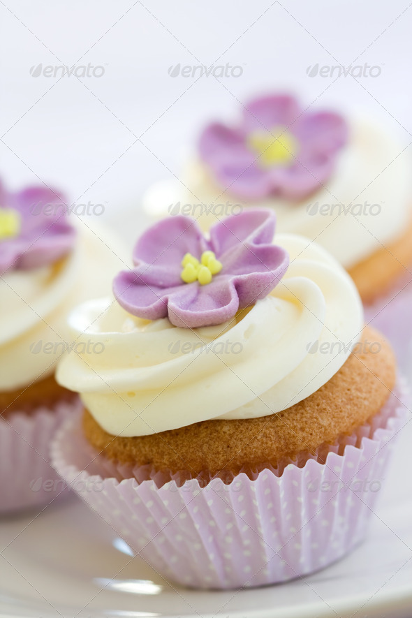Purple cupcakes - Stock Photo - Images