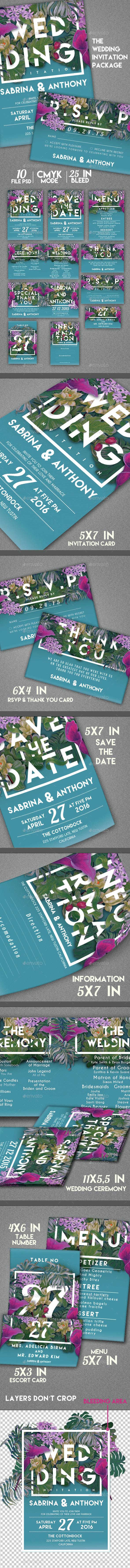 Wedding Invitation Package - Invitations Cards & Invites