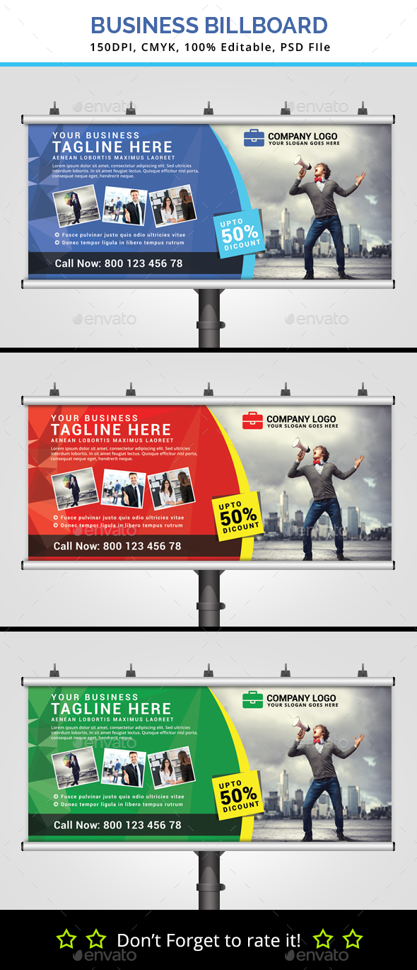 Multipurpose Business Billboard V8 - Signage Print Templates