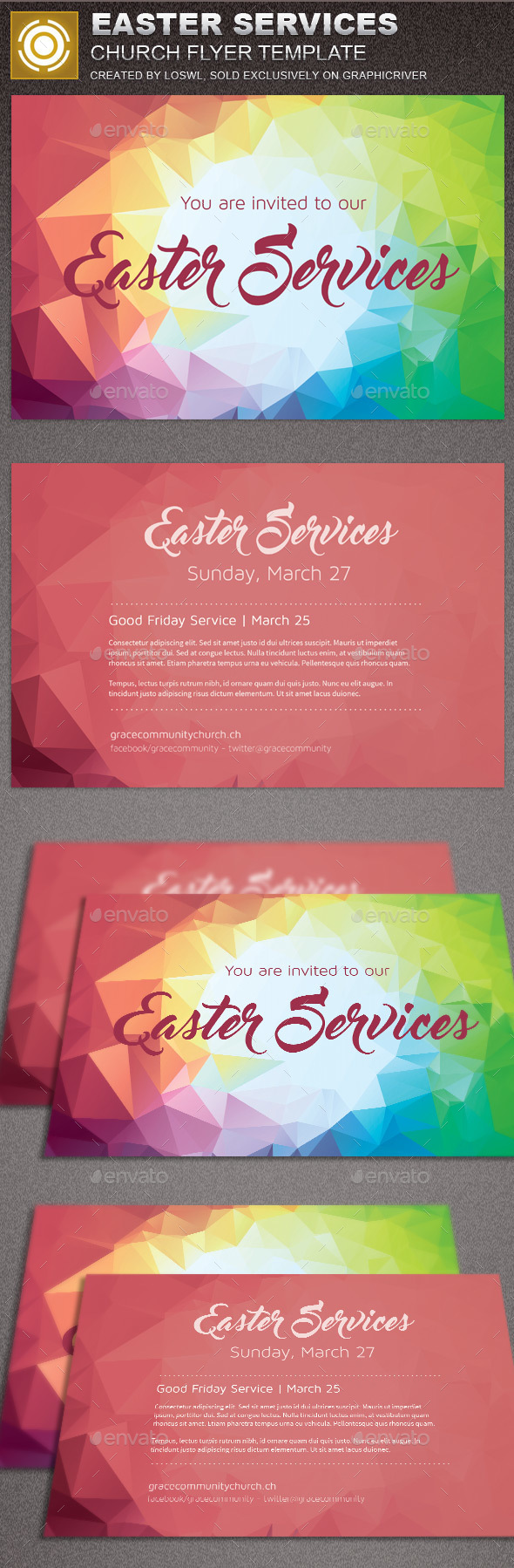 Easter Church Flyer Template - Church Flyers