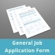 General Job Application PDF Form  - GraphicRiver Item for Sale