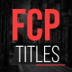 FCP Titles - VideoHive Item for Sale
