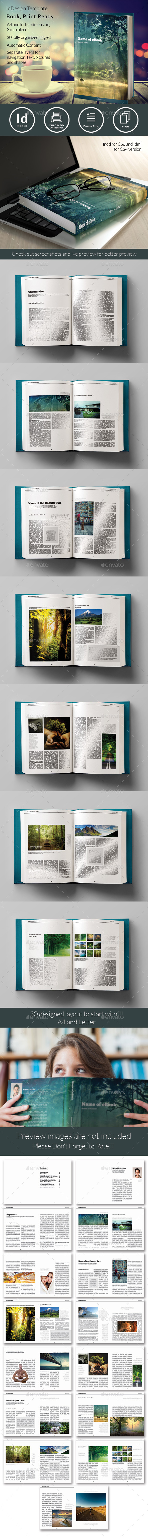 Book Template - Magazines Print Templates