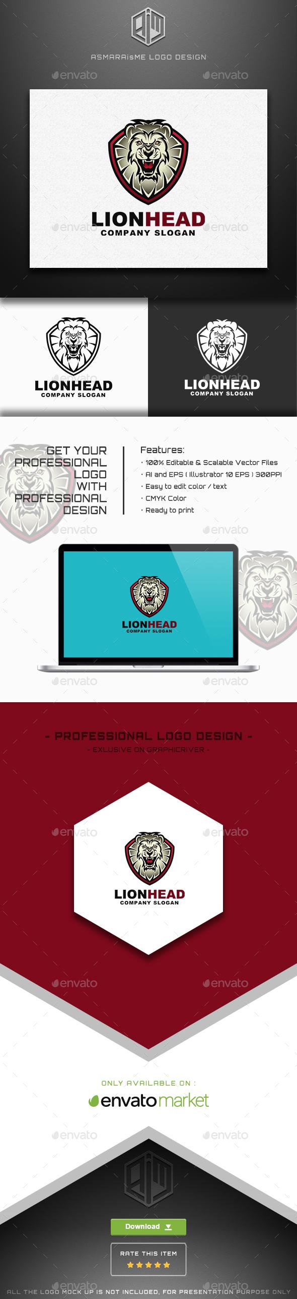 Lion Head / Lion Shield Logo