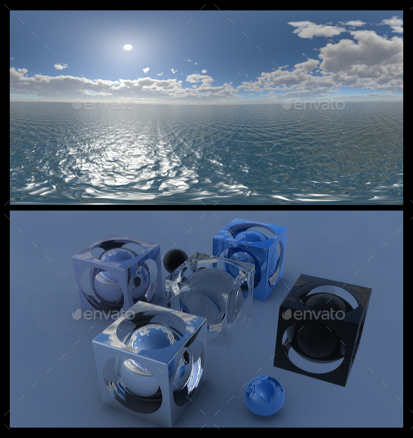 Ocean Blue Clouds 11 - HDRI - 3DOcean Item for Sale