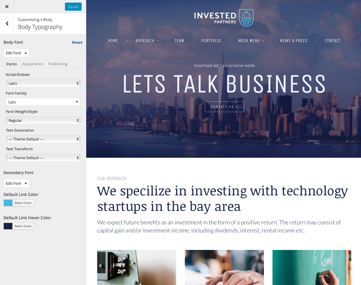 Invested Venture Capital Investment Theme By ProgressionStudios - Venture capital website template
