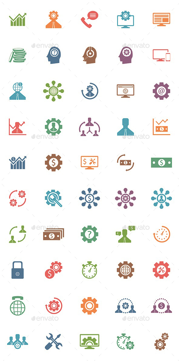 50 Seo Popular Icons - Business Icons