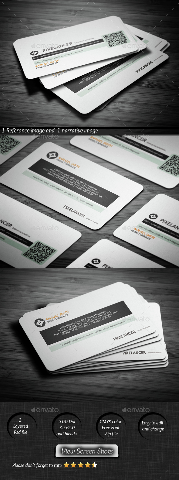 Pixelancer Business Card - Corporate Business Cards