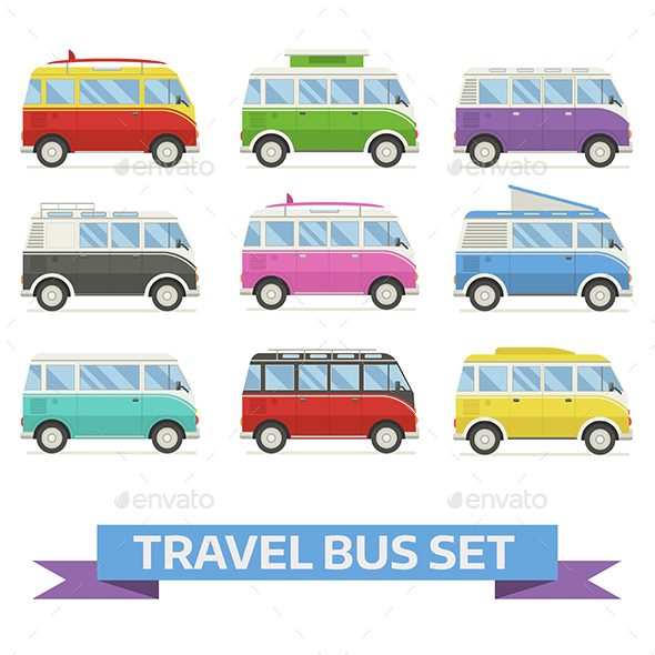 Travel Van Bus Collection - Travel Conceptual