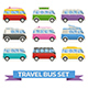 Travel Van Bus Collection - GraphicRiver Item for Sale