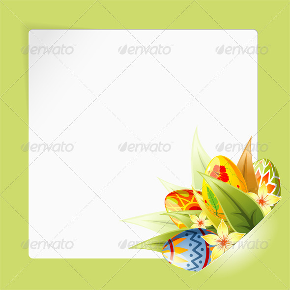 Easter Frame with Sheet Paper mounted in pocket - Miscellaneous Seasons/Holidays