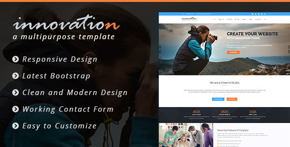 Innovation - Bootstrap Multipurpose Template  - Business Corporate