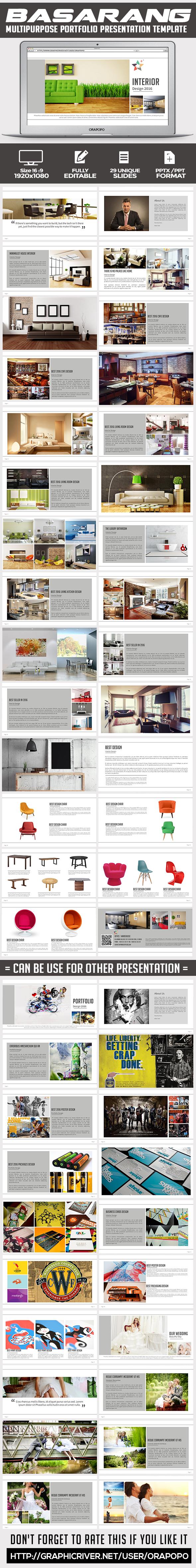 Basarang ~ Multipurpose Portfolio Presentation Template  - Creative PowerPoint Templates