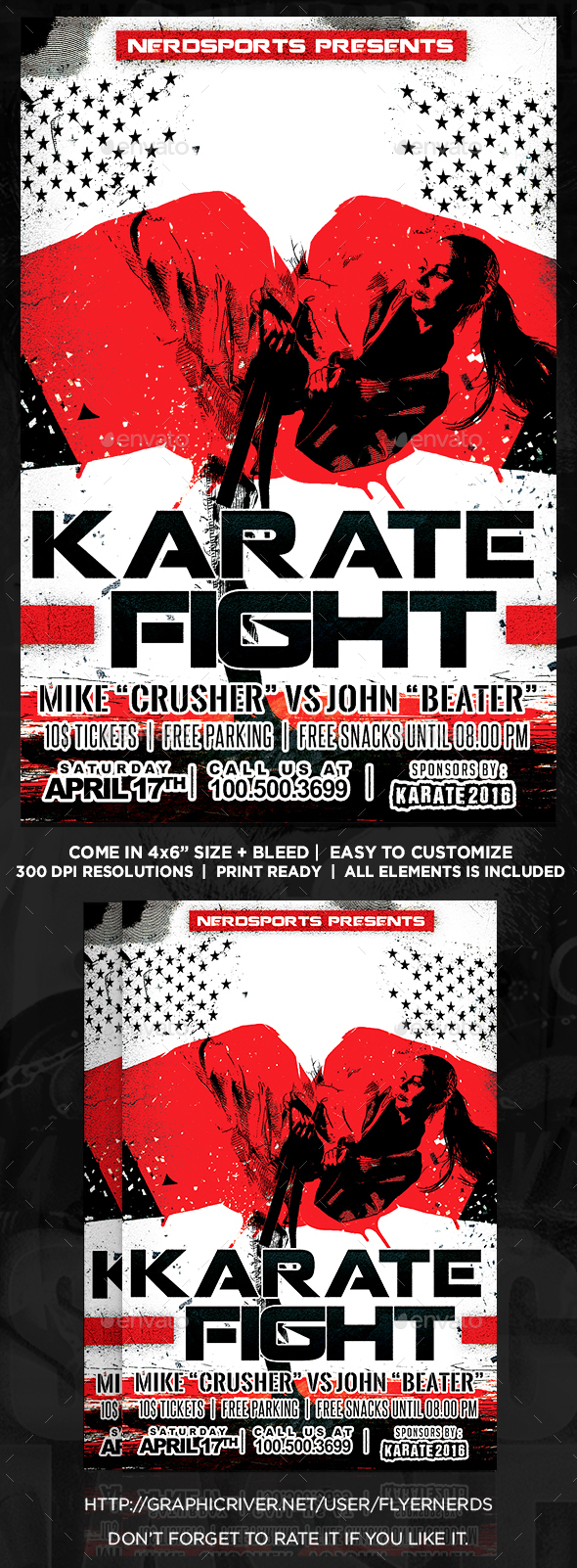 Karate Fight Sports Flyer - Sports Events