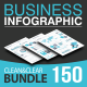 Business Infographic Bundle 150 Elements - GraphicRiver Item for Sale