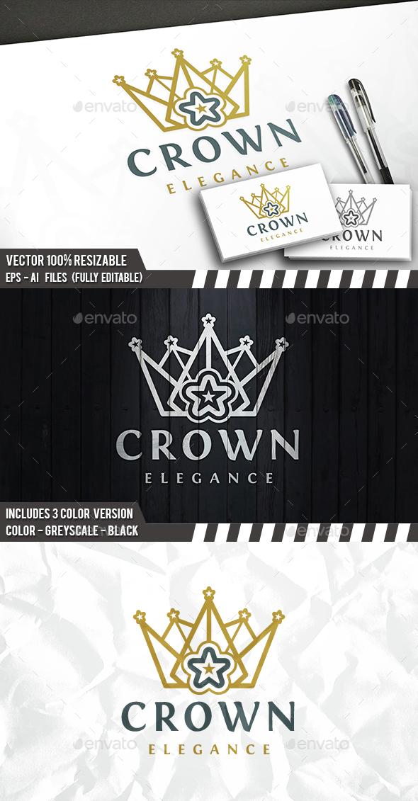 Star Crown Logo - Symbols Logo Templates