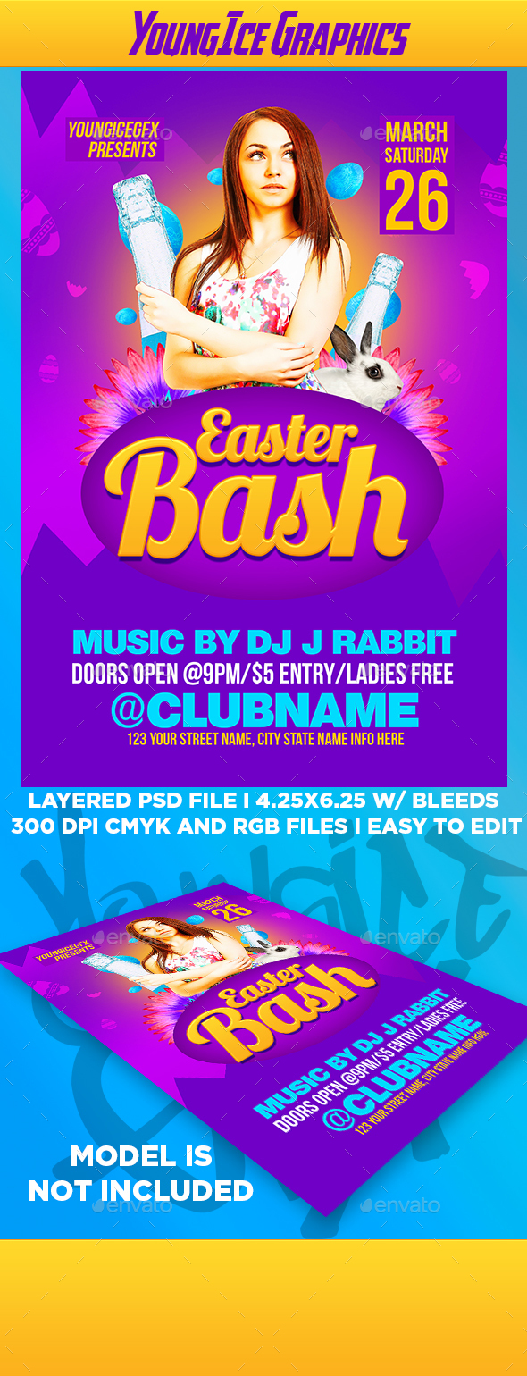 Easter Bash Flyer Template - Clubs & Parties Events