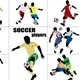 Soccer players silhouette - GraphicRiver Item for Sale