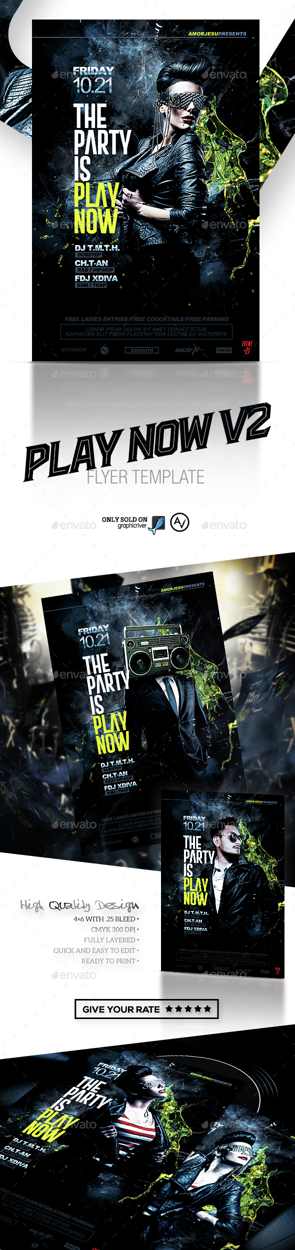 Play Now Flyer Template V2 By Amorjesu Graphicriver