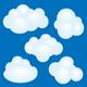 Cartoon clouds set - GraphicRiver Item for Sale