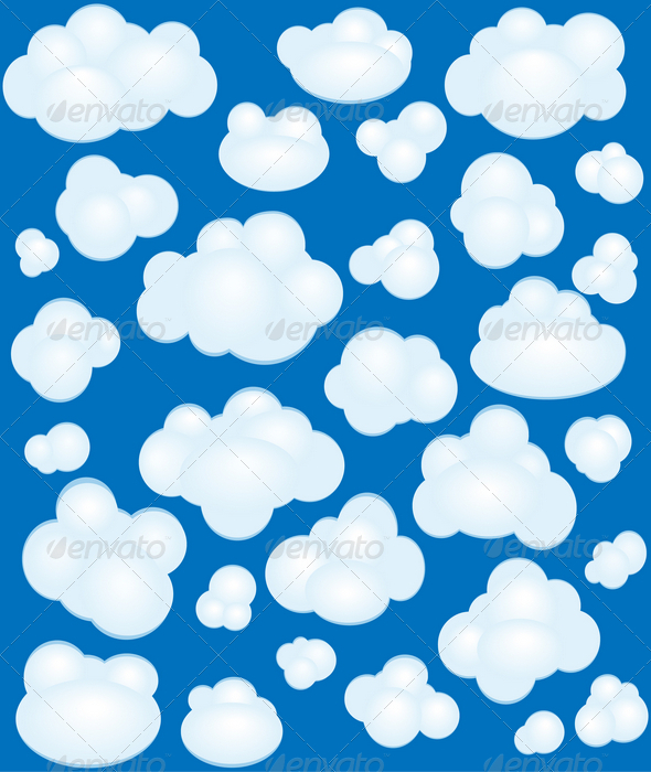 Cartoon clouds set - Nature Conceptual