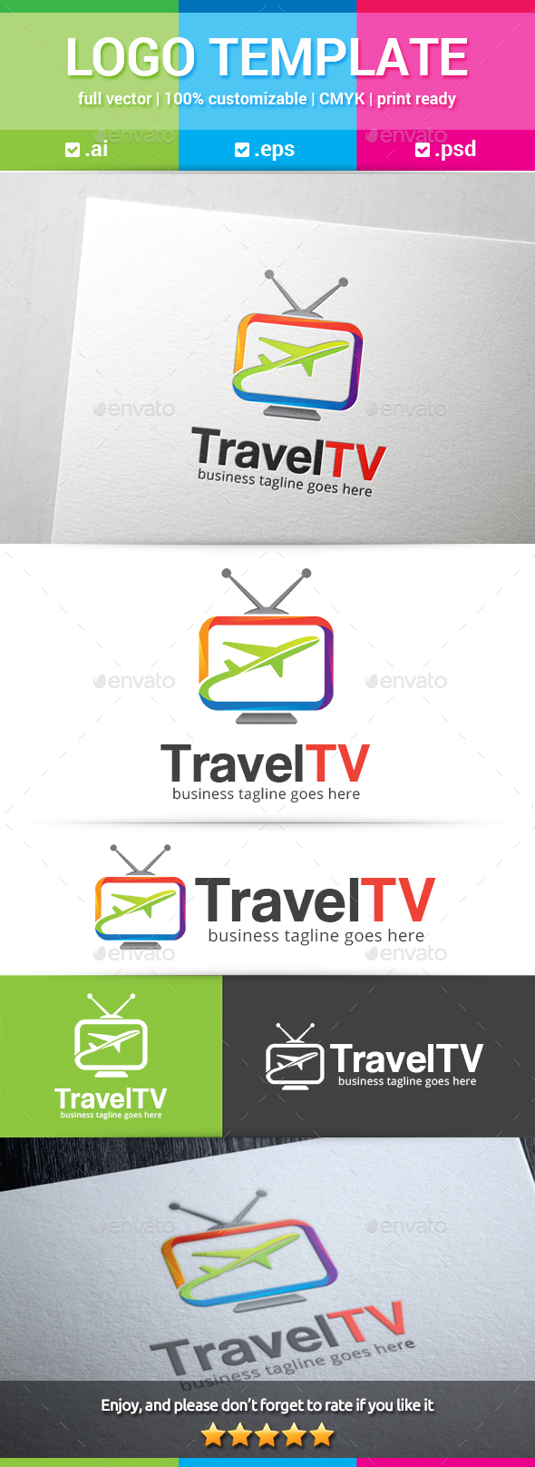 Travel TV Logo - Objects Logo Templates
