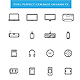 Thin Line Computer Device Icon Set - GraphicRiver Item for Sale