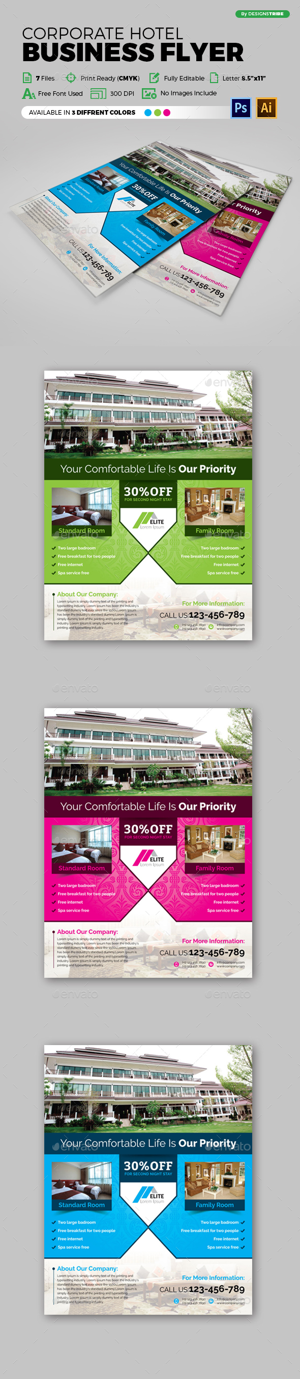 Flyer – Multipurpose 139 - Flyers Print Templates