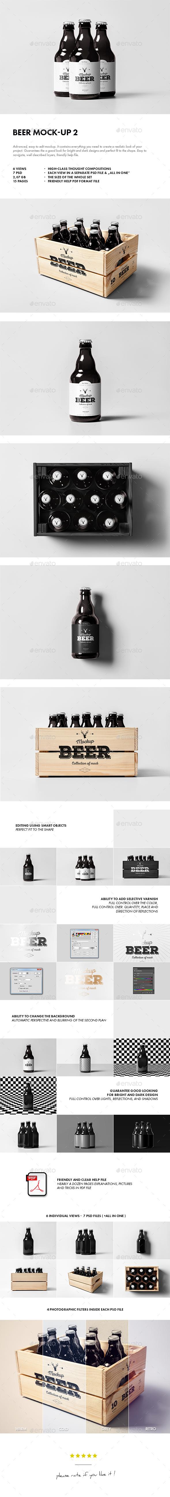 Beer Mock-up 2 - Food and Drink Packaging