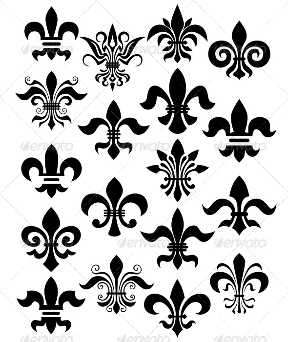 fleur de lis set - Decorative Symbols Decorative