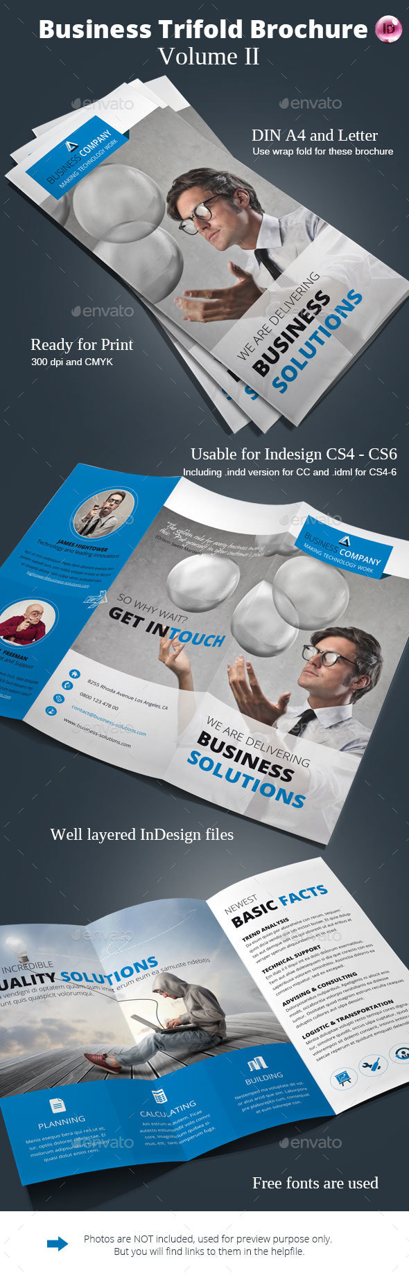Business Trifold Brochure Vol. II - Corporate Brochures