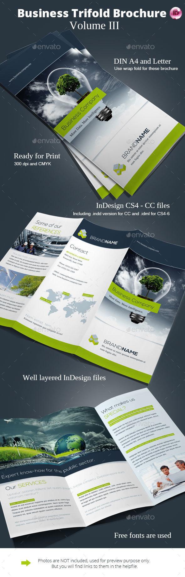 Business Trifold Brochure Vol. III - Corporate Brochures