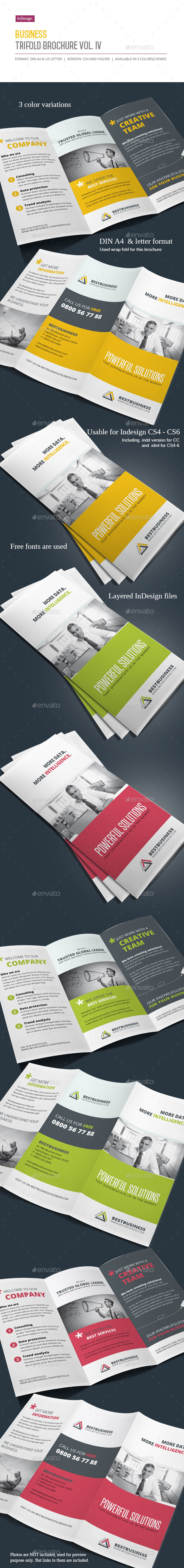 Business Trifold Brochure Vol. IV - Corporate Brochures