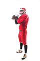 American football player posing with ball on white background - PhotoDune Item for Sale