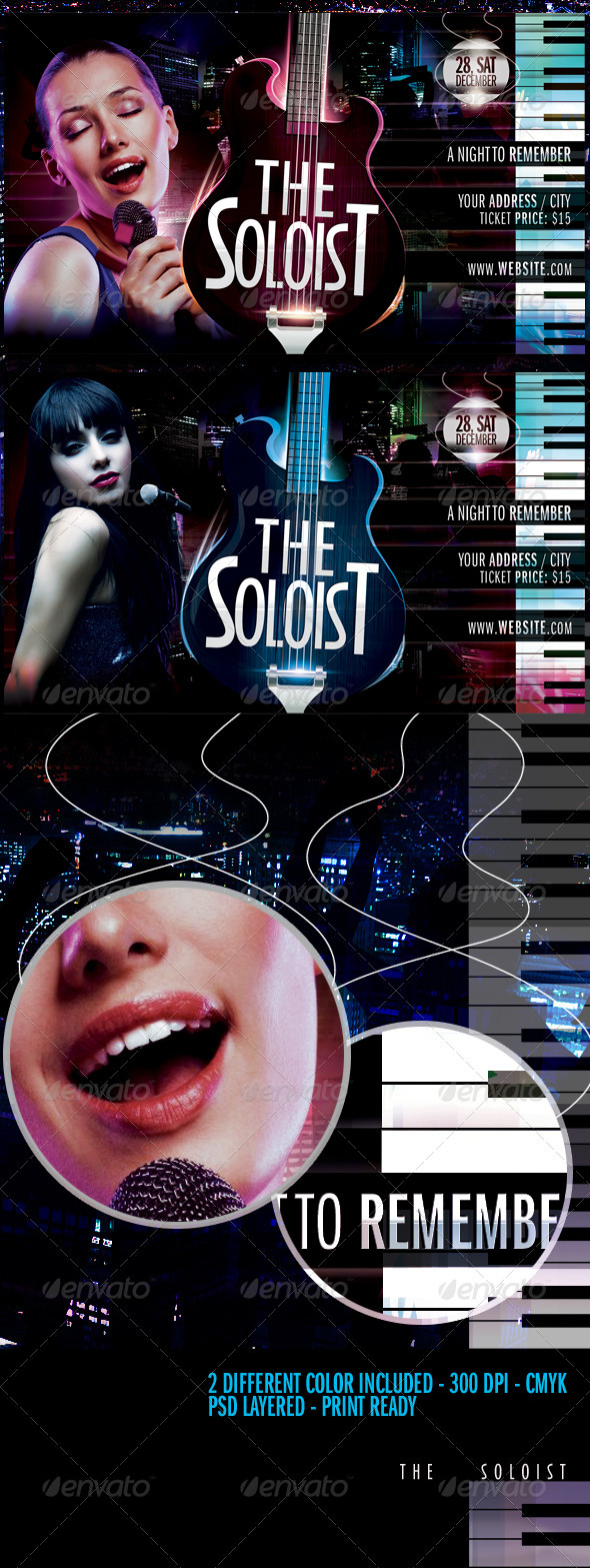 The Soloist Flyer Template - Clubs & Parties Events