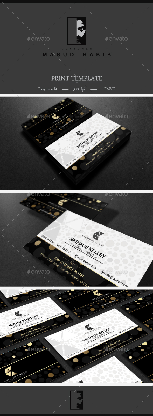 Gold And Black Business Card 4 - Corporate Business Cards