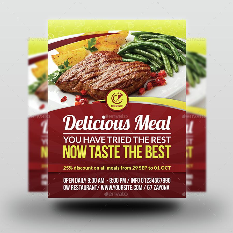 Restaurant Flyer Template Vol.9   Restaurant Flyers.  01_Restaurant_Flyer_Template ...